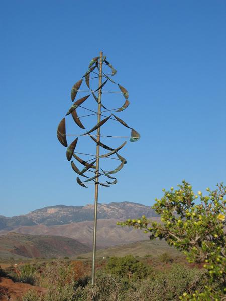 Double-Dancer-Lyman-Whitaker-Wind-Sculpture-blue-sky