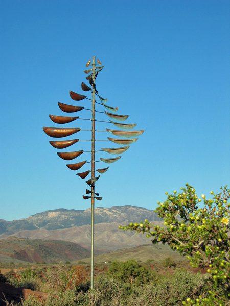 Double-Helix-Sail-Wind-Sculpture-Lyman-Whitaker-blue-sky
