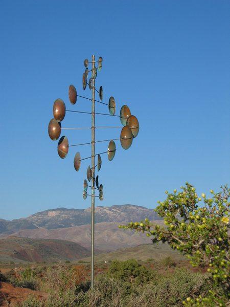 Double-Helix-Vertical-Wind-Sculpture-Lyman-Whitaker-blue-sky