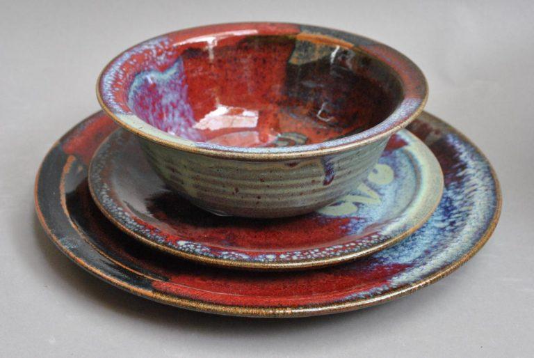 autumn dinner set by blaisdell pottery at worthington gallery